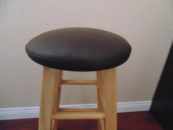 Bar Stool Coverdark Brown Faux Leather 12131415round By