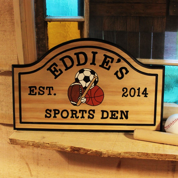 Large Personalized Man Cave Signs : Items similar to hand carved large wood custom