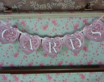 Cards Bunting, Wedding Bunting, Wedding Cards Bunting, Wedding Sign, Rose Bunting, Photo Prop Signs.