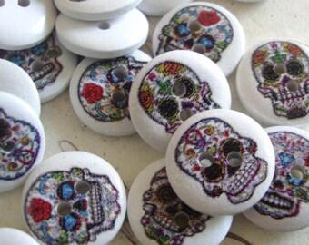 60 Sugar  Skull buttons sugar skull style buttons