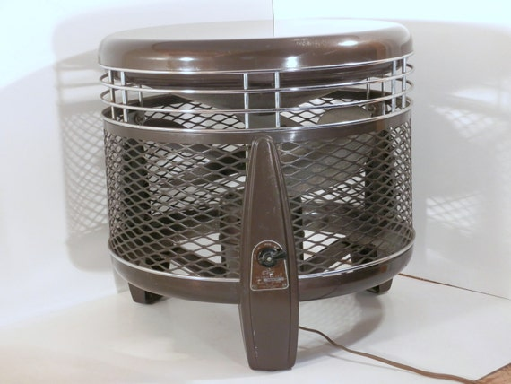 Vintage Emerson Hassock Floor Fan Model 74646 Al 115 Volts