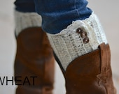 Boot Cuffs with Lace Trim cute womens boot socks custom colors with buttons on side