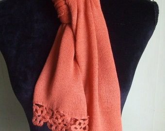 lightweight wool scarf shawl girl