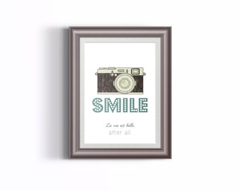 "Printable ""SMILE"", PDF file, A4 size"