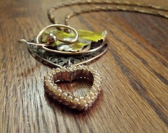 Necklace - Vintage Layered Double Heart