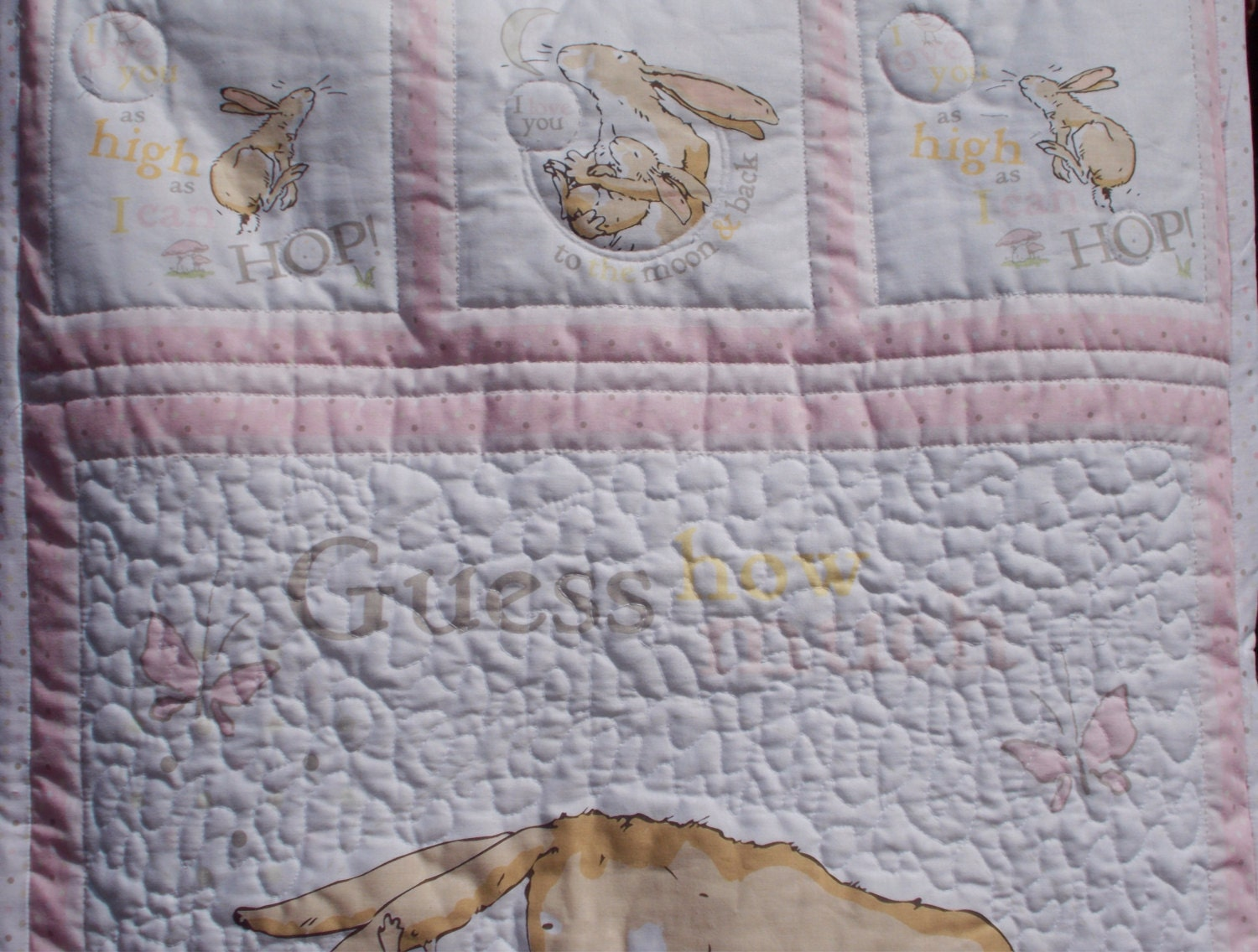 Baby Quilt Guess How Much I Love You Australian Made