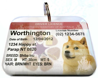 Australia driver license Northern Territory Personalized Pet ID Tags