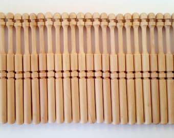Lace Bobbins for Bobbin Lacemaking, 24 maple bobbins by Kliot