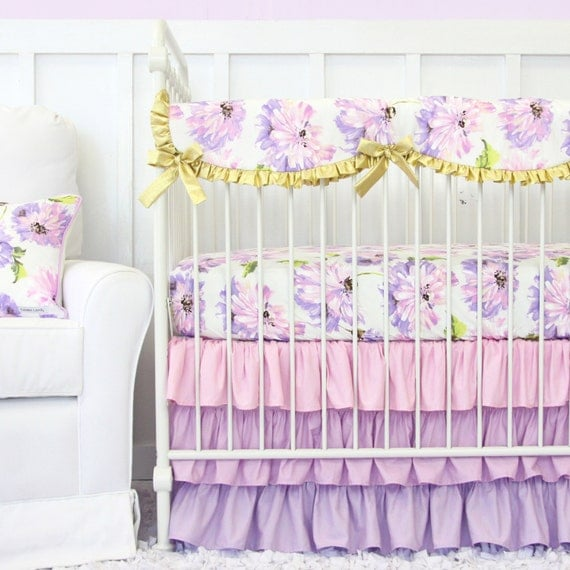 Lilac Purple Crib Bedding