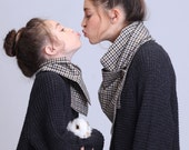 Mommy And Me Scarf , Matching Scarves , Matching Scarf Set , Big Sister Little Sister , Button Scarf , Boho Kids , Wool Scarf