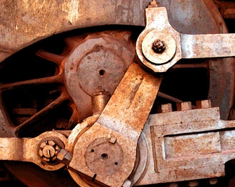 Train//Train Print//Train Photograph/Train Wheel Print//Train Memorabilia/Nostalgic Train Print