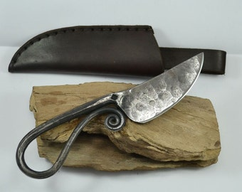 Hand Forged VIKING KNIFE with Leather SHEATH Middle Ages Medieval Cutlery Replicas Replica Hammeder Knives