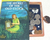Secret Compartment Wood Box Added To Nancy Drew Book Secret of Old Clock - Add A Matching Note Card and Journal - Made To Order