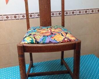 Flower Upholstered Dining Chair