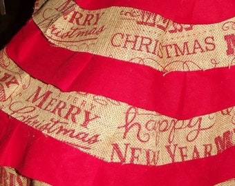 Rustic Burlap Tree Skirt