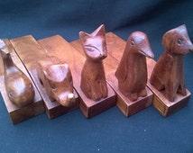 DOORSTOPS Beautiful Hand Carved Animal Doorstops FREE uk p&p