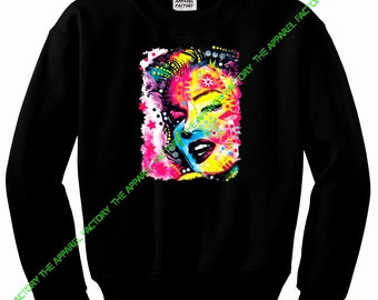 Neon Marilyn Monroe Painting Sweatshirt All size S-2XL