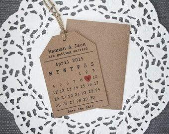 Wedding Save The Date - Rustic, Heart, Calendar Style, Tag Style Save The Date