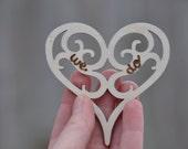 Bridal shower favor, wedding favor personalized favors party favors wedding shower favors rustic wedding favor bachelorette party heart