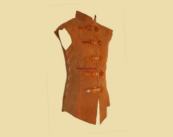 Long Doublet made of leather for men