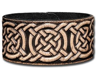 Leather Bracelet 32mm Celtic Knotwork (1)