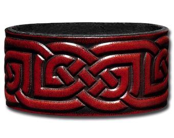 Leather Bracelet 32mm Celtic Knotwork (2)