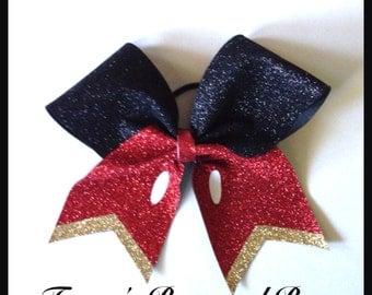 Cheer Bow~Mickey Mouse sparkly~Softball Bow