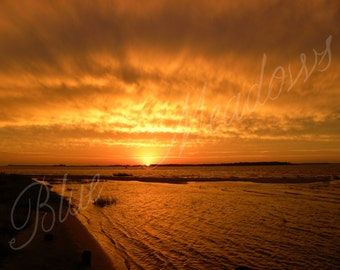 Sunset, Beach sunset, orange sky, beach view, beach, orange sunset, dramatic sunset