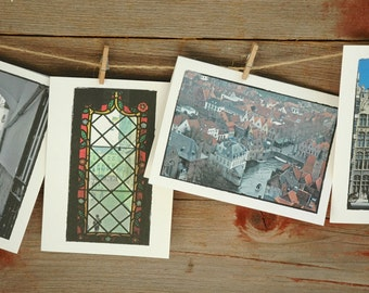 Belgium Photo Note Cards/Hostess Gift/All Occassion Cards/European Cards/Blank Photo Note Cards/Set of 4/Brugge/Antwerp Photography