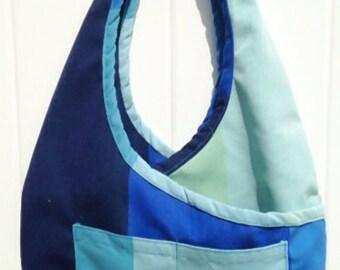 Boho Bag. Criss Cross Shoulder Purse.  Sling Bag, Fashionable, Shoulder Bag, High End Designer Fabrics