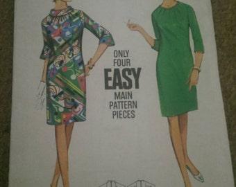 Butterick 4312, plus size, vintage, size 20,  1960s dress