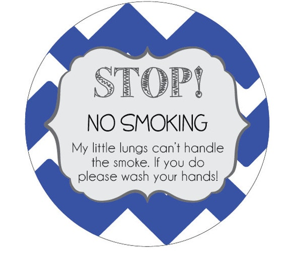 Preemie, newborn, baby No Smoking car seat tag, baby shower gift, stroller tag, baby car seat sign