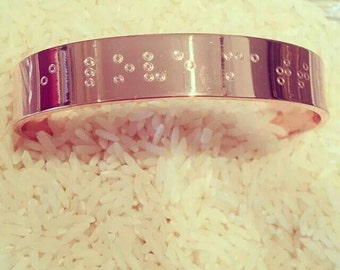 Braille Secret Message Magnetic Copper Bracelet