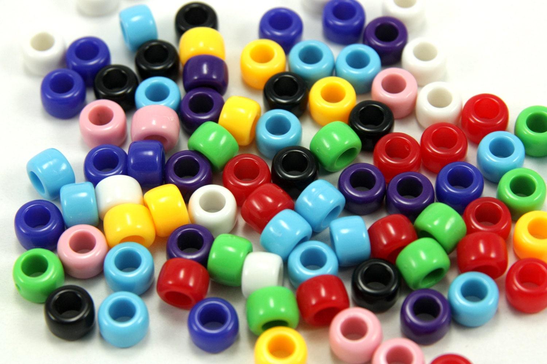wholesale 500pcs pony mixed pony bead large bead