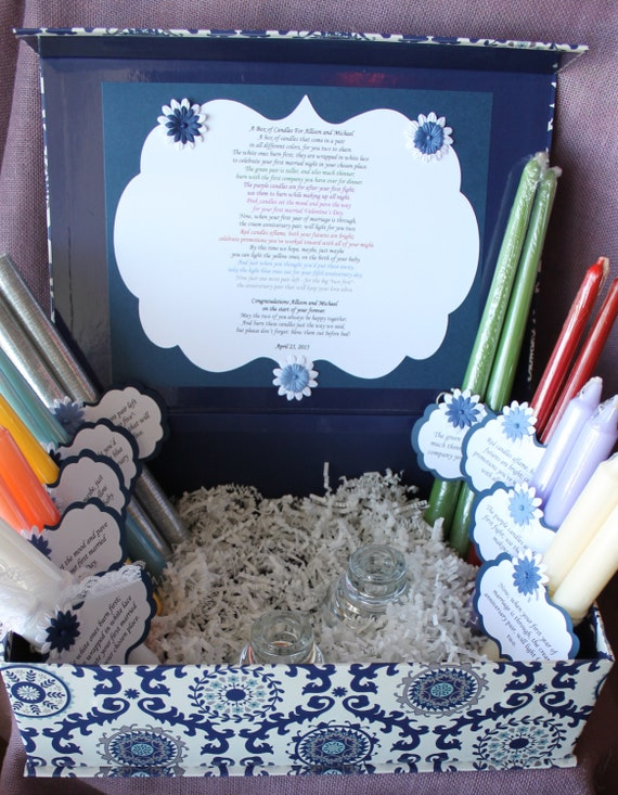 Candle Poem Gift Set. Bridal candle basket. Sentimental wedding gift ...