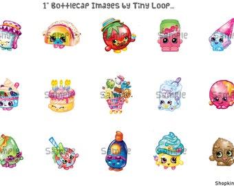 "30 Shopkins Bottlecap Images 1"" Circle 4x6 Instant Download"