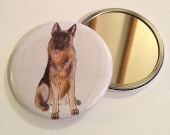 German Shepherd Pocket Mirror