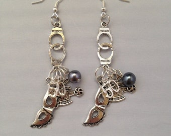 Fifty Shades of Grey Earrings 50 Shades Christian Grey Gray