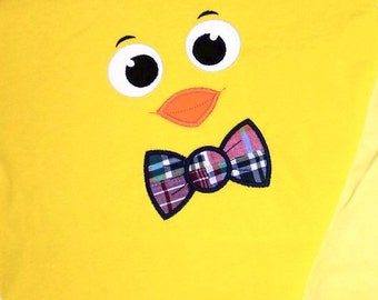 Boy's Easter Shirt with Cutie Chick Face