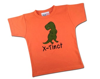 Boy's Dinosaur Shirt with Embroidered X-tinct or Name