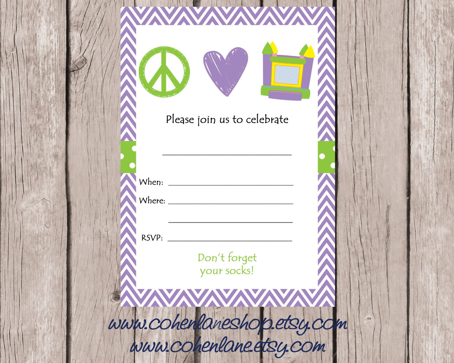 instant fill in bounce birthday party invite fill in 128270zoom