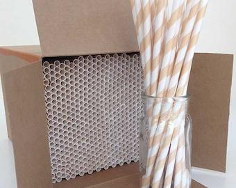 Paper Straws, 600 Ivory Paper Straws, Wholesale Straws, Bulk Paper Drinking Straw, Cream Straws, Latte Straws, Vintage Wedding Paper Straws