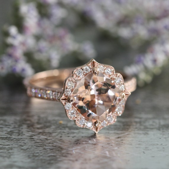 Morganite Wedding Band 21 Superb Morganite engagement rings canada