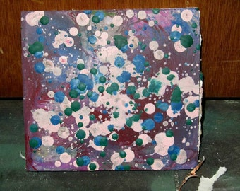Abstract Wax Encaustic Paintings