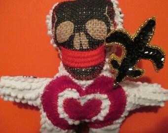 voodoo doll New Orleans voodoo doll folk art doll fantasy primitive Ooak goth