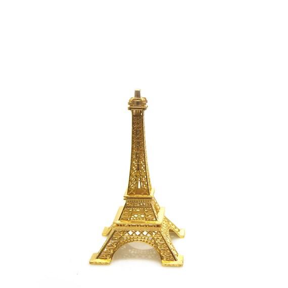Aluminum Brass Working France: Metal Eiffel Tower Paris France Decor Centerpiece Gold