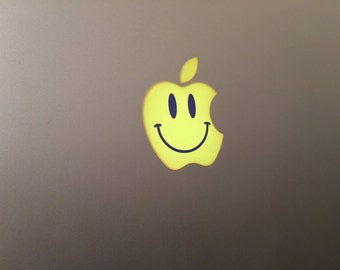 Smiley Face Apple MacBook Decal