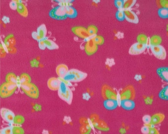 Butterfly Fleece Fabric By The Yard