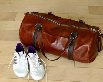 Sport leather bag / big outdoor travel bag