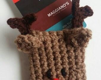 Crochet Reindeer Gift Card Holder